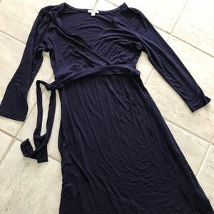 Maternity faux wrap dress